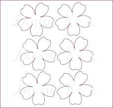 Paper Flower Templates Free Download Paper Rose Printable Template Large Giant Flower Tutorial Flowers
