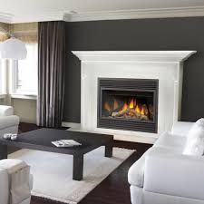 formalbeauteous white fireplace mantel design and vented gas fireplace