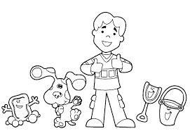 Blues Clues Notebook Coloring Page Blues Clues Coloring Pages