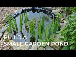 how to build a small garden pond even
