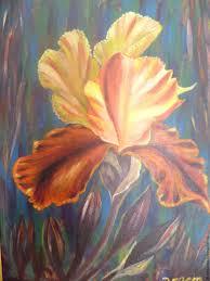 flower paintings handmade livemaster handmade the scarlet flower
