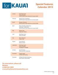 online calendars 2015 special features calendar 2015 for kauai online