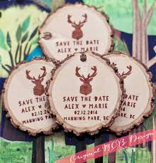 best save the date images weddings country  items similar to 75 custom deer save the date wedding favor wood magnets on