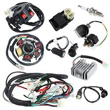 amazon com annpee complete electrics wiring harness wire loom annpee complete electrics wiring harness wire loom magneto stator for gy6 4 stroke engine type
