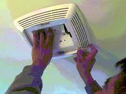 how to put bathroom fan back you