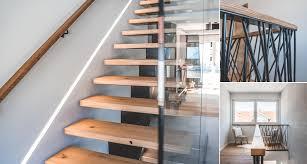 Bei dieser treppenbauform werden sogenannte setzstufen hochkant zwischen den trittstufen platziert, um den zwischenraum zwischen den trittstufen zu verschließen. Treppe Aus Holz Glas Und Metall Von Der Tischlerei Wilkens Im Emsland