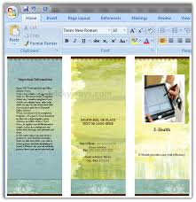 How To Make Your Own Brochure On Microsoft Word Create Brochure In Word 2007 Or 2010 Make Brochure