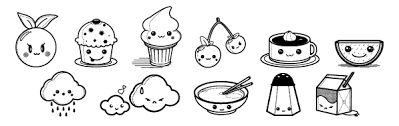Small Picture Kawaii coloring pages of foods ColoringStar