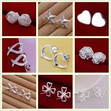 <b>Factory price High quality</b> 925 stamped silver plated jewelry earring ...