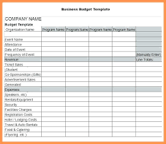 Business Budget Excel Template Sample Free Templates Company Online