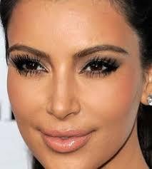 kim kardashian makeup close up