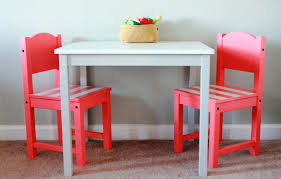 image of ikea childrens wooden table and chairs