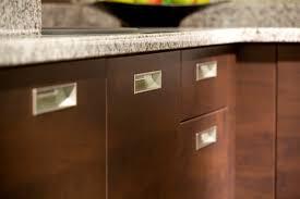 dark walnut veneer kitchen