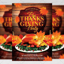 thanksgiving party flyer pre thanksgiving party seasonal a5 flyer poster template