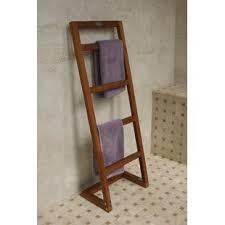 towel stand wood. Angled Free Standing Towel Stand Wood
