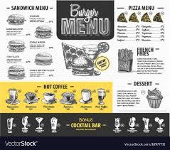 Design Fast Food Menu Vintage Burger Menu Design Fast Food Menu