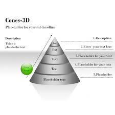cones d diagrams and charts for powerpoint presentations