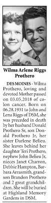 Wilma Arlene Riggs obituary - Newspapers.com