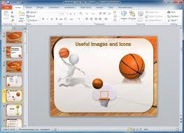Basketball Powerpoint Template Animated Basketball Powerpoint Template