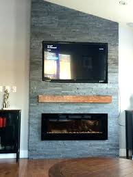 tv and fireplace wall view in