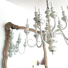 cottage chandelier paint idea white distressed hanging light large rustic shabby chic french chandeliers