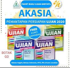 Makalah materi soal bahasa indonesia kelas 8 smp/mts diterangkan mulai dari sd, smp, atau sma , mts, ma dan smk lengkap dengan jawabanserta pembahasannya. Jual Buku Pemantapan Persiapan Ujian Akasia Smp Mts 2020 Paket Empat Buku Jakarta Barat Alvia Galery 90 Tokopedia