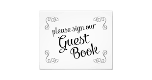 Swirls Please Sign Our Guest Book Wedding Sign Zazzle Com