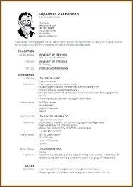 Curriculum Vitae Format Download Unique Cv Sample Download Docs