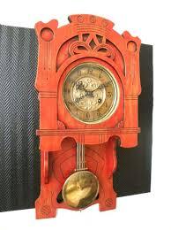 art nouveau wall clock by schlenker kienzle circa 1900