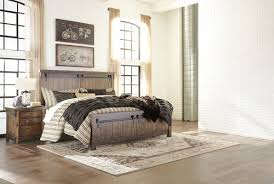 The Lakeleigh Brown <b>4 Pc</b>. King Panel Bed & <b>Nightstand</b> available ...