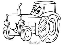 Farmer On Tractor Coloring Page Farm Pages To Print Printable Drawn