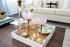 Small Modern Square Coffee Table Tray Painted With White Color For Gold  Bubbly Decanter Ideas