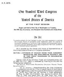 Gatt Uruguay Round Bill (1993; 103Rd Congress H.r. 1876) - Govtrack.us