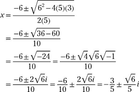 solving equations with complex