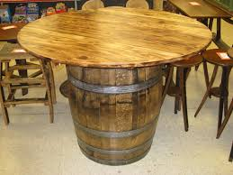whiskey barrel chairs and table pub with leather bar stools black