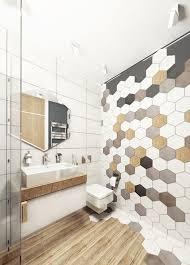 Interior Design: Bright Bathroom With Hexagon Ideas - Keks's ...