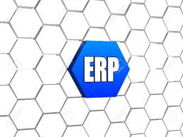 Erp Enterprise Resource Planning Systems 3d Letters Over Blue