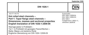 Channel Dimension Chart En 10365 The European Norm Replacing Din 1025 Montanstahl