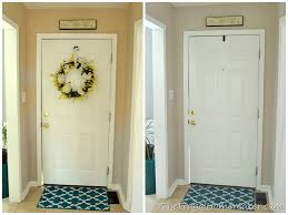 most popular behr paint colorsEntryway before and after beige to GREIGE with Behr paint