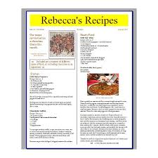 Recipe Page Layout Tips For Creating A Recipe Newsletter Or Cooking Pamphlet With Free