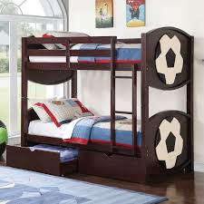 ACME Furniture All Star Soccer Over Twin Bunk Bed with Storage