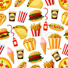 cheeseburger pattern. Interesting Cheeseburger Stock Vector Of U0027Fast Food Restaurant Lunch Seamless Pattern Background  Hamburger Pizza To Cheeseburger Pattern