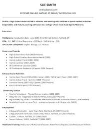 Academic Resume Sample High School Doc Template For College Cover