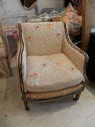 antique shabby chic chair living antique chair slipcovered with a deco vintage chenille bedspread eclec