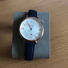 fossil jacqueline navy leather watch women s fashion watches on carou