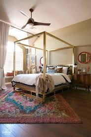Master Bedroom With The MinkaAire Artemis Distressed Koa Ceiling Fan
