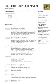 Family Nurse Practitioner Resume Samples Visualcv Resume Samples