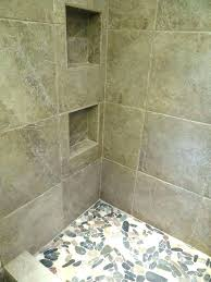 showers rock shower walls tile wall stone floor x porcelain on the durock sh