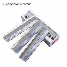 eyebrow cutter. 100pcs/set eyebrow trimmer blades cutter equipment super feather cut special platinum coated edge h