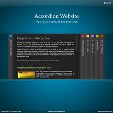 Flash Website Templates Flash Template 24 Accordion 3